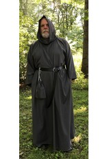 Cloak and Dagger Creations R403 - Trappist Brown Wool Crepe Monk Robe with Attached Cowl