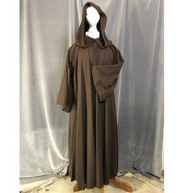 Cloak and Dagger Creations R484 -  Washable Dark Brown Woolen Robe w/Pockets