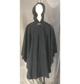 Cloak and Dagger Creations 4462 - Washable Deep Blue Fleece Ruana-Style Cloak, Pewter Clasp