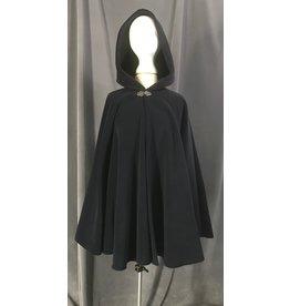 Cloak and Dagger Creations 4463 - Blue Fleece Full Circle Short Cloak, Pewter Clasp