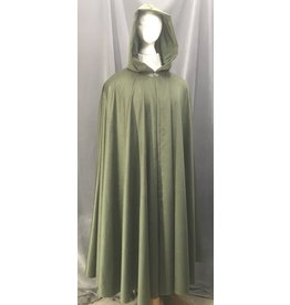 Cloak and Dagger Creations 4464 - Washable Hunter Green Fleece Long Cloak, Pewter Clasp