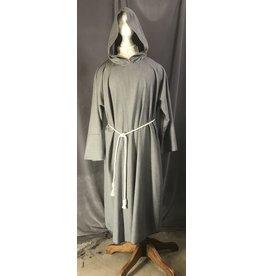 Cloak and Dagger Creations R466 - XL Light Grey Summer Weight Wool Monk's Robe