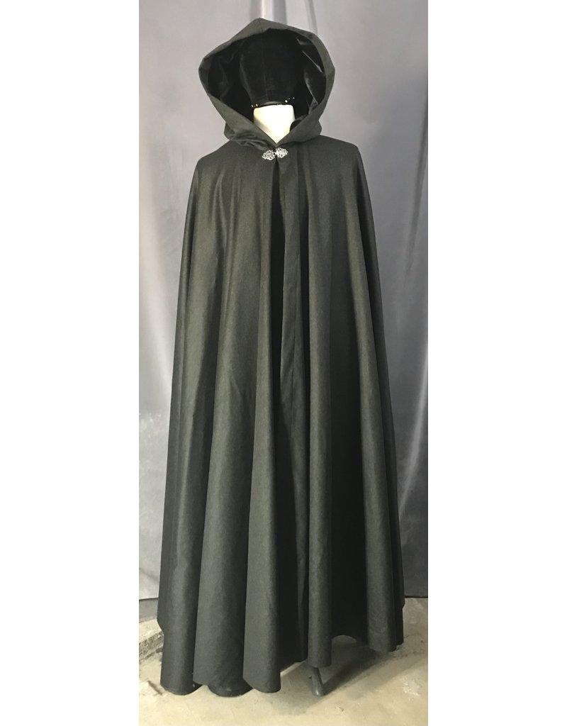 Cloak and Dagger Creations 4482 - Grey Green Cloak, Long, Full Circle