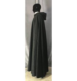 Cloak and Dagger Creations 4480 - Black Cloak, Angora Wool, Black Hood Lining