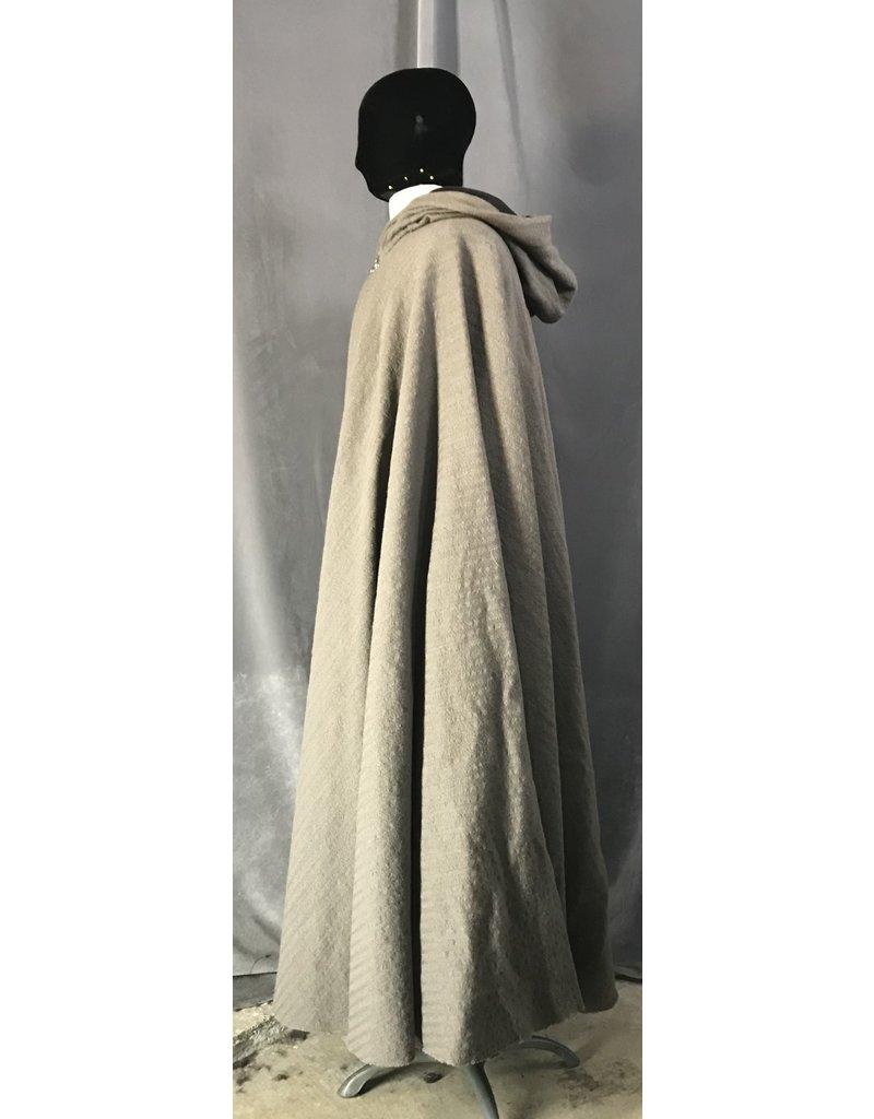 Cloak and Dagger Creations 4479 - Grey Brown Cloak, Woven Stripe, Lined Hood