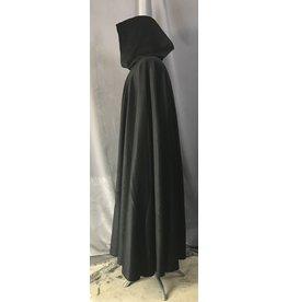 Cloak and Dagger Creations 4481 - Black Cloak, Green Hood Lining, Wool