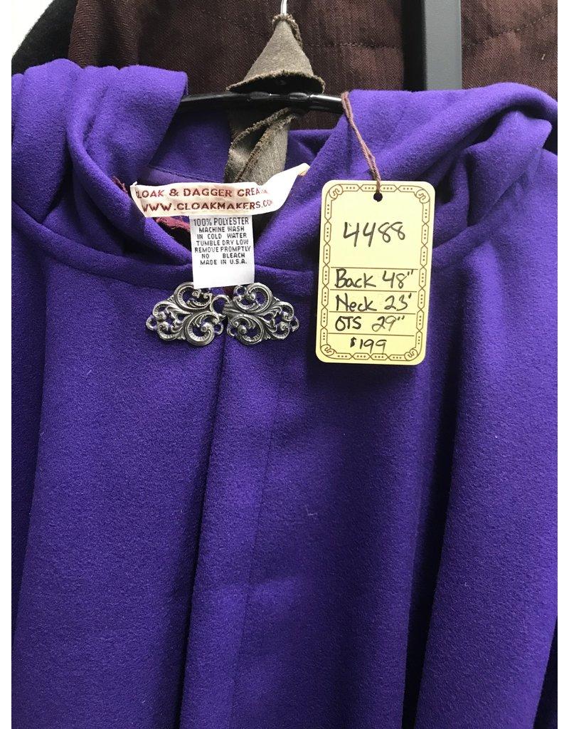 Cloak and Dagger Creations 4488 - Purple Faux Wool Ruana Cloak, Washable