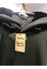 Cloak and Dagger Creations 4496 - Dark Green Wool Full Circle Cloak w/Black