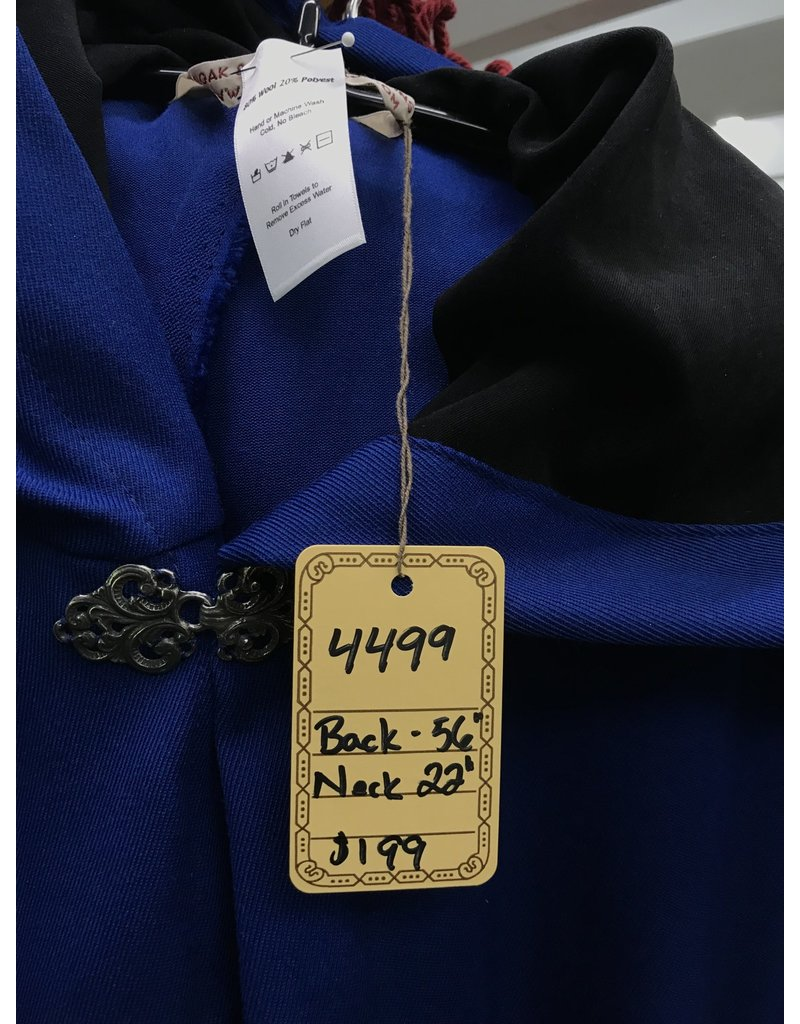 Cloak and Dagger Creations 4499 - XL Washable Blue Serge Cloak w/Black
