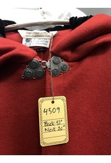 Cloak and Dagger Creations 4509 - Madder Red Woolen Long Full Circle Cloak, Black Hood Lining