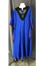 Cloak and Dagger Creations G1106 - Royal Blue Gown w/Crow Embroidery, Pockets