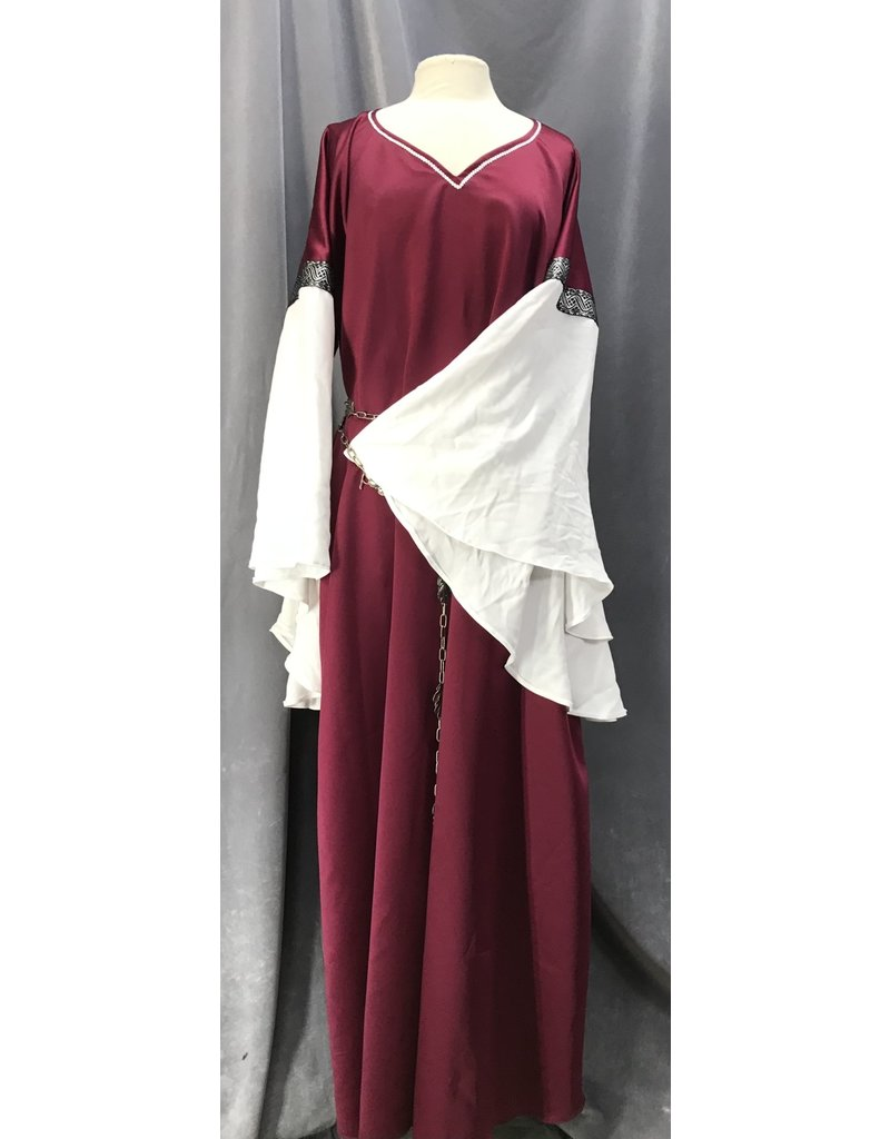 Cloak and Dagger Creations G1099 - Berry Red Washable Gown w/Sleeves &Pockets