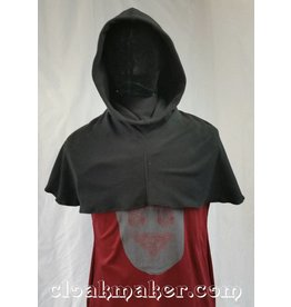 H92-Black Fleece Hooded Cowl