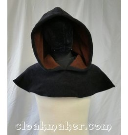 Cloak and Dagger Creations H127 - Black WindPro Fleece Oversized Hooded Cowl - Medium