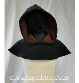 H127 - Black WindPro Fleece Oversized Hooded Cowl - Medium