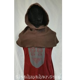 Cloak and Dagger Creations H123 - Brown Wool Hooded Cowl