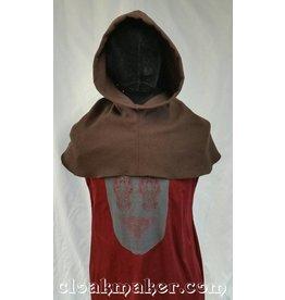H123 - Brown Wool Hooded Cowl