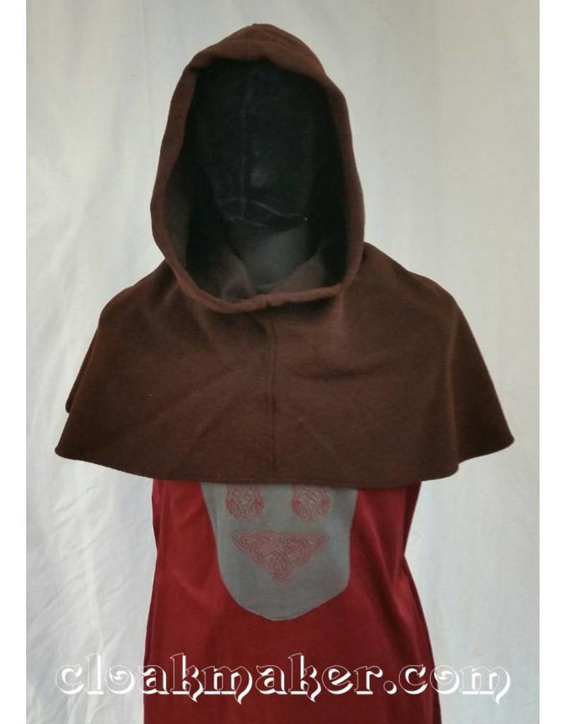9512b9aeb6c H111 - Heathered Brown Wool Hooded Cowl - Large - Cloak   Dagger ...