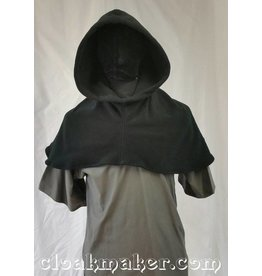 Cloak and Dagger Creations H105 -Black Fleece Hooded Cowl