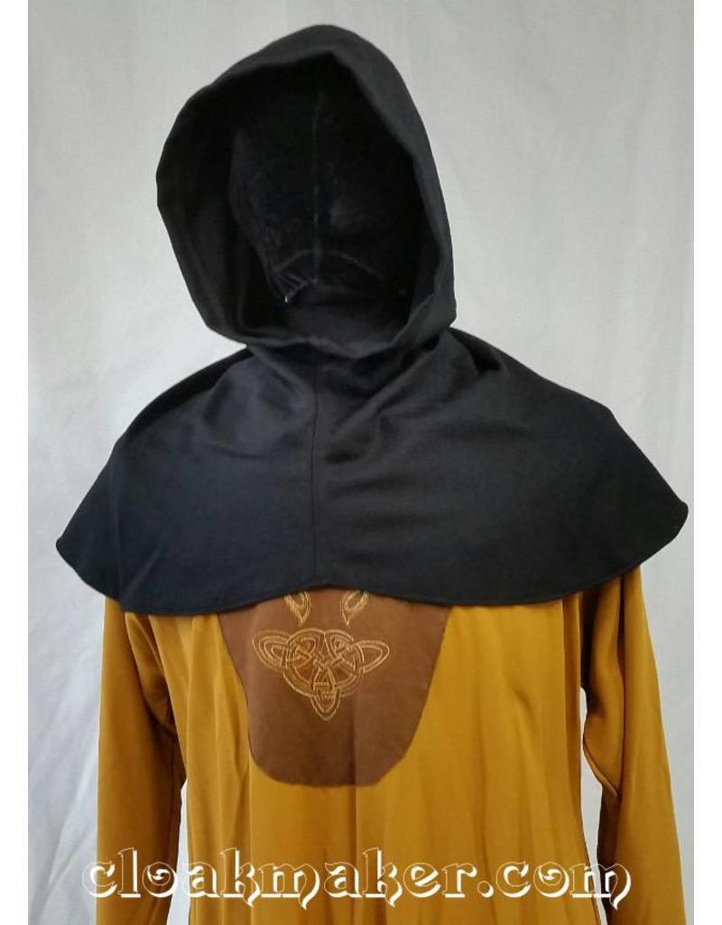 f4dd6fe694f H104 - Ribbed Black Wool Hooded Cowl - Small - Cloak   Dagger Creations