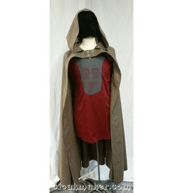 3650 - Tan Wool Half Circle Hobbit Cloak w/Buttons