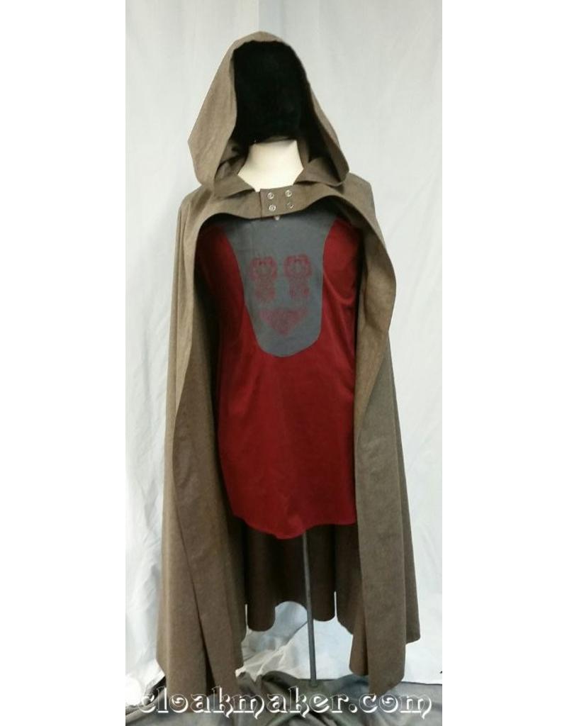 Cloak and Dagger Creations 3650 - Tan Wool Half Circle Hobbit Cloak w/Buttons