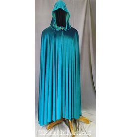 3575 -Teal Velvet Full Circle Cloak