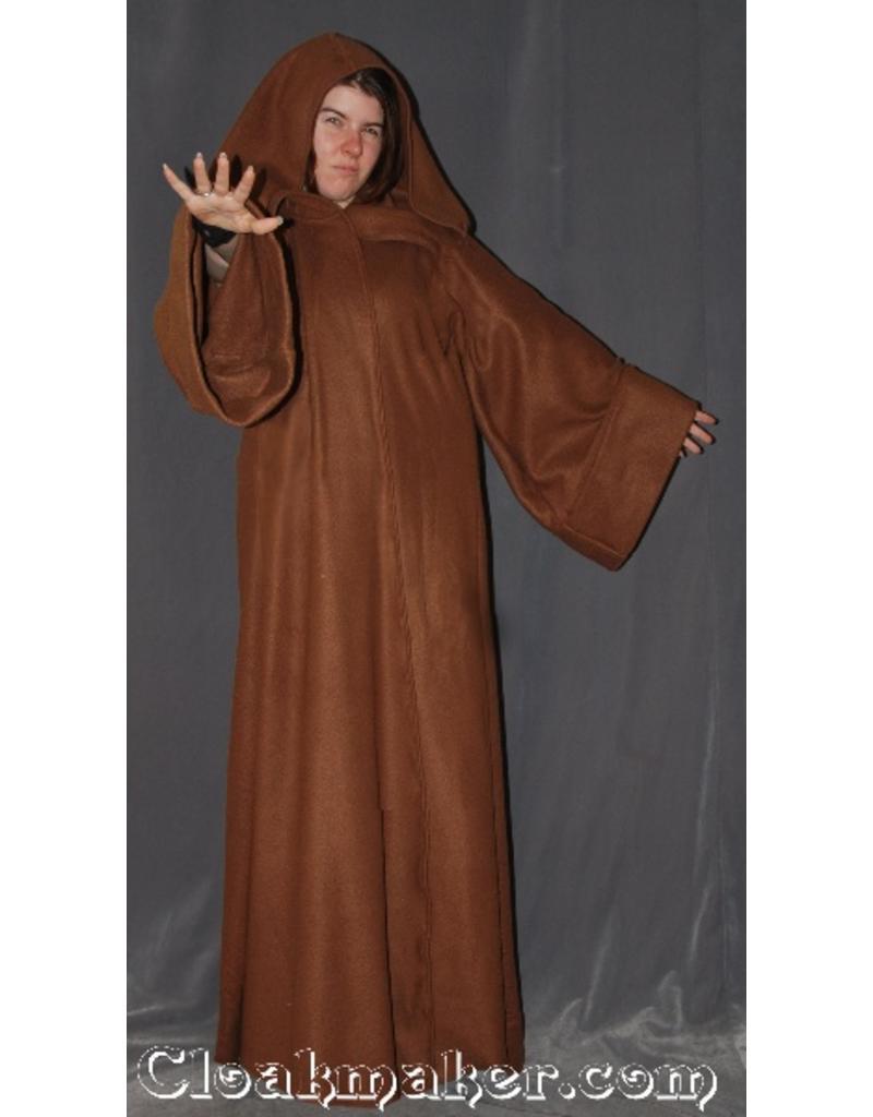 Cloak and Dagger Creations R381 - Caramel Brown Fleece Obi-Wan Jedi Robe