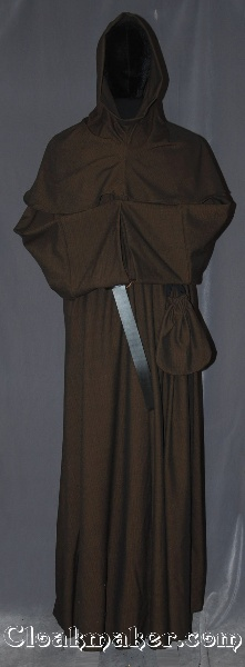 3ffda6f517 R383 - Brown and Black Chevron Wool Monk Robe with Detached Cowl ...