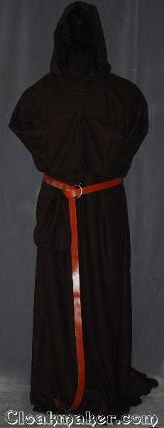 bc1190ef50 R403 - Trappist Brown Wool Crepe Monk Robe with Attached Cowl