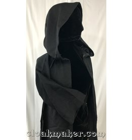R421 - Black Wool Robe with Pockets - Youth