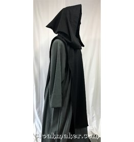 R420 - Black Wool Tabard with Pointy Hood