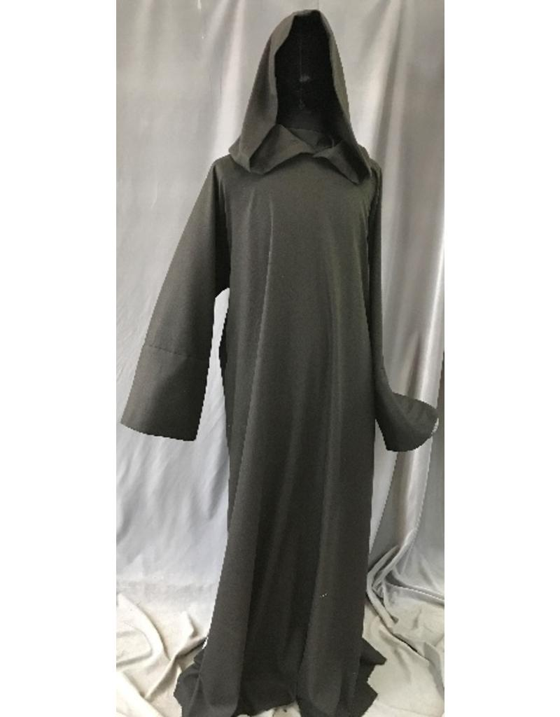 e946d06e57 R418 - Black and Dark Brown Twill Wool Monk Robe with Attached Cowl ...