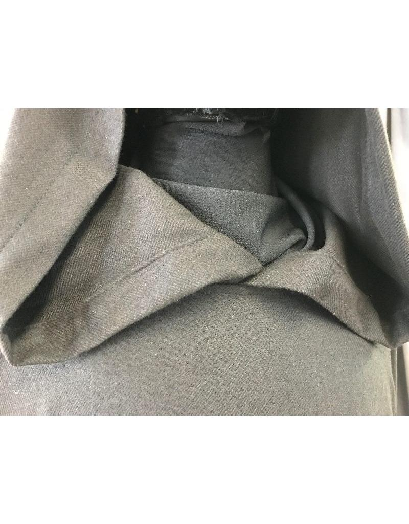 af44eaf705 ... R418 - Black and Dark Brown Twill Wool Monk Robe with Attached Cowl