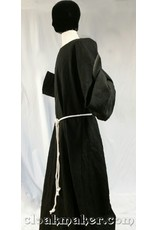 Cloak and Dagger Creations R426 - Black Linen Monk Robe with Detached Cowl