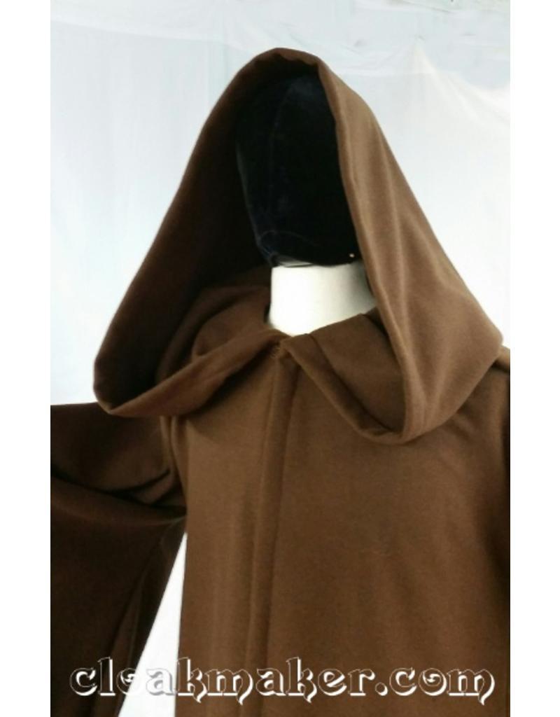 Cloak and Dagger Creations R425 -ObiWan Brown Wool Jedi or Traveler Robe