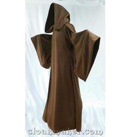Cloak and Dagger Creations R425 -ObiWan Brown Wool Jedi or Traveler Robe