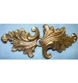 Cloak and Dagger Creations Acanthus Cloak Clasp - Jewelers Bronze