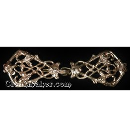 Cloak and Dagger Creations Art Deco Vine  Cloak Clasp- Jewelers Bronze