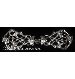 Art Deco Vine Cloak Clasp - Silver Tone Plated