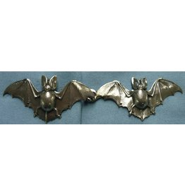 Cloak and Dagger Creations Bats Cloak Clasp - Silver Tone Plated