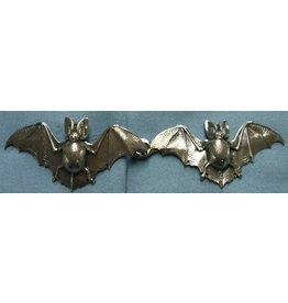 Cloak and Dagger Creations Bats Cloak Clasp - Silver Tone Plated