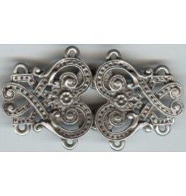 Byzantine Swirls Cloak Clasp - Pewter