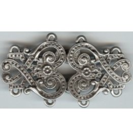 Cloak and Dagger Creations Byzantine Swirls Cloak Clasp - Pewter