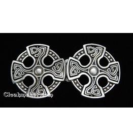 Cloak and Dagger Creations Celtic Cross Cloak Clasp - Pewter