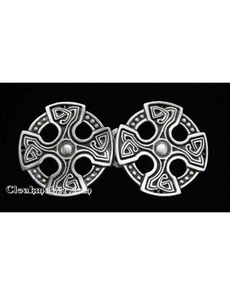 Cloak and Dagger Creations Celtic Cross Cloak Clasp - Pewter