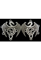 Cloak and Dagger Creations Celtic Dragons Cloak Clasp - Pewter