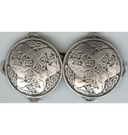 Celtic Horse Medallion, Large Cloak Clasp - Pewter