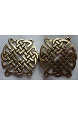 Cloak and Dagger Creations Celtic Knot Round Cloak Clasp - Antique Bronze Tone Plated