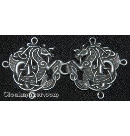 Celtic Seahorse Cloak Clasp - Pewter